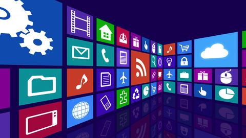 Smart Phone apps R Cs 4b 2 HD Stock Video Footage