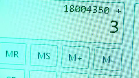 Calculator Stock Video Footage