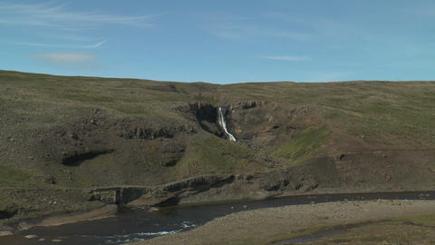 historic bridge at old ring road in iceland Stock Video Footage