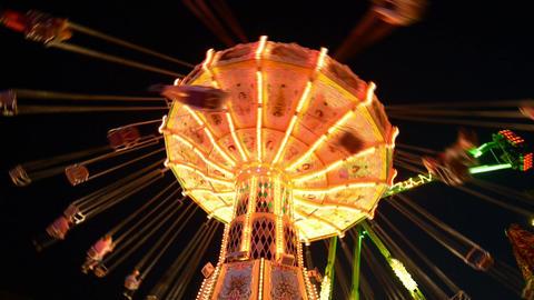 funfair oktoberfest classic carousel super wide 11 Stock Video Footage