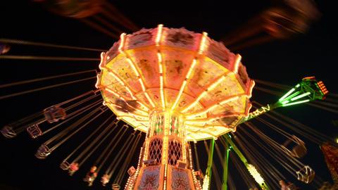 funfair oktoberfest classic carousel super wide 11 Footage