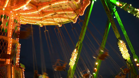 funfair oktoberfest classic carousel close 11061 Stock Video Footage