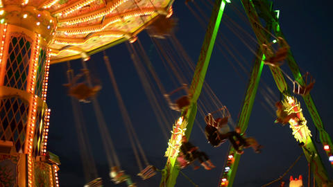 funfair oktoberfest classic carousel close 11061 Stock Video Footage