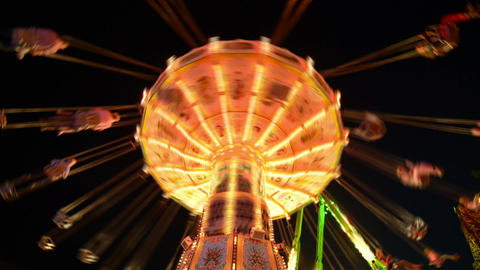 funfair oktoberfest classic carousel time lapse 11 Stock Video Footage