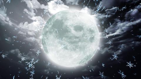 snow moon dark sky Stock Video Footage
