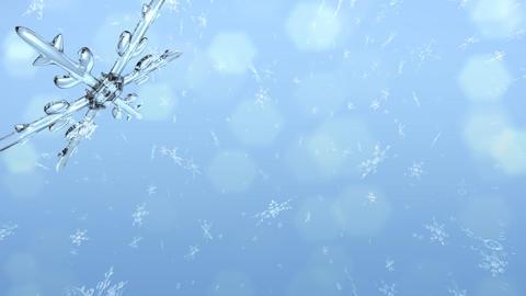 Snow Crystals corner Stock Video Footage
