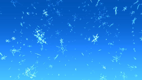 Snow with blue sky Animation