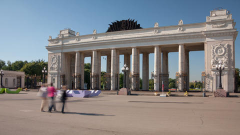 Gorky Park hyperlapse Stock Video Footage