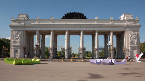 Gorky Park Hyperlapse stock footage