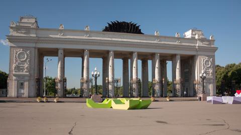 Gorky Park hyperlapse Stock Video Footage
