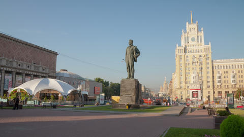 Maykovsky monument hyperlapse 4K Stock Video Footage