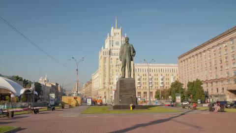 Maykovsky monument hyperlapse 4K Stock Video Footage