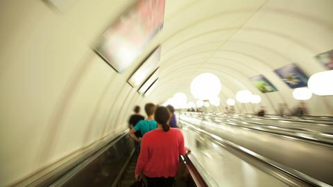 Subway escalator timelapse Footage