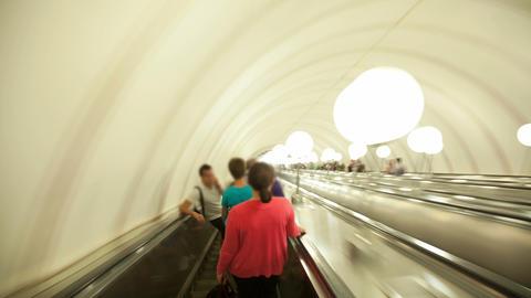 Subway escalator timelapse Stock Video Footage