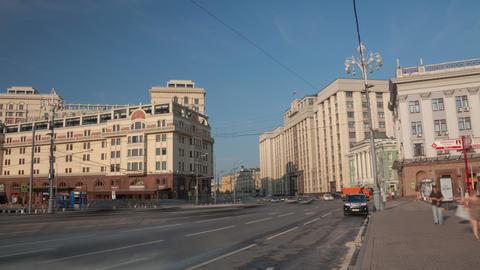 Okhotny Ryad street walk hyperlapse 4K Stock Video Footage