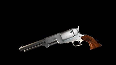 Old Revolver with Alpha Stock Video Footage