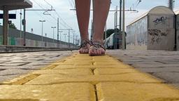 Feet slowly walking 2 Stock Video Footage