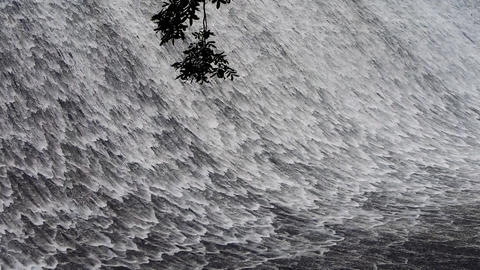 Torrential waterfall & spindrift from dam Animation