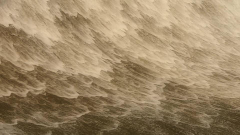 Torrential waterfall & spindrift,sand & mud Animation