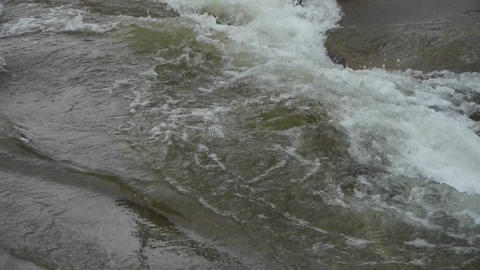 rapids river stream inlets on boulders Stock Video Footage