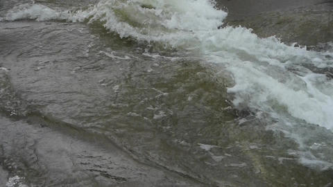rapids river stream inlets on boulders Animation