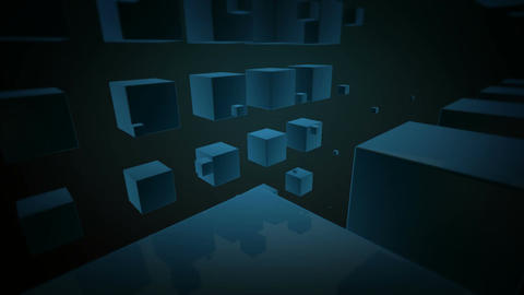 blue cubes dance Stock Video Footage