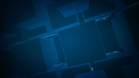 flying blue box Stock Video Footage