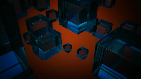 blue glass boxes Animation