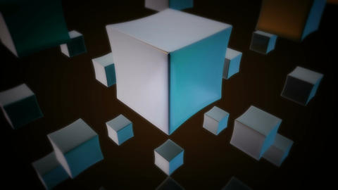 retro white cubes Animation