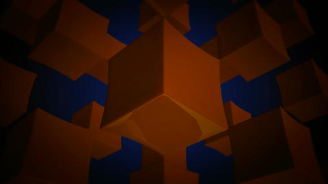 orange box array Stock Video Footage