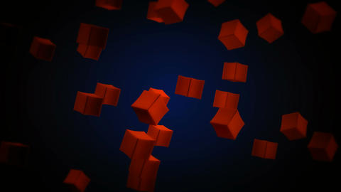 dynamic red box Stock Video Footage