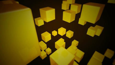 yellow dice array Stock Video Footage