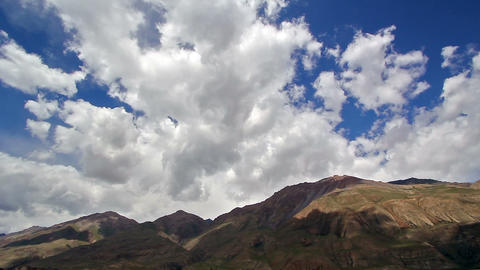 Clouds in the mountains. Kirgystan, central Tien S Stock Video Footage