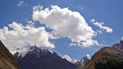 Clouds in the mountains. Kirgystan, central Tien S Footage
