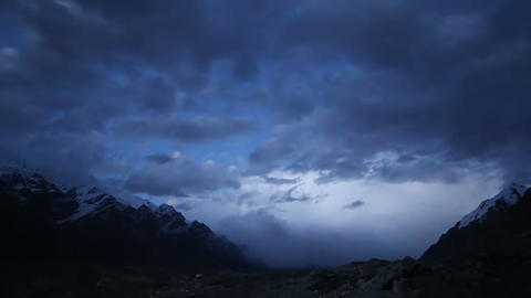 Sunset in the mountains. Kirgystan, central Tien S Stock Video Footage