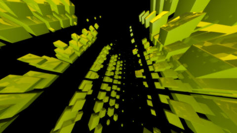 green cube with alpha Stock Video Footage