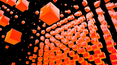 orange box with alpha Stock Video Footage