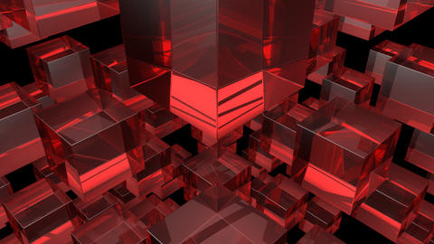 red glass with alpha Stock Video Footage