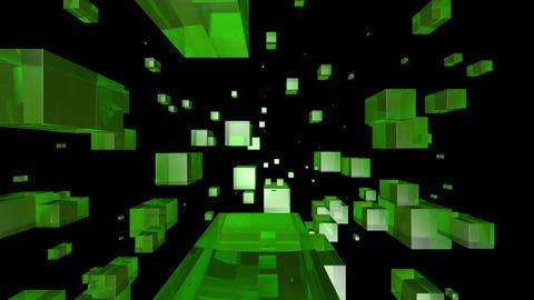 green glass with alpha Stock Video Footage
