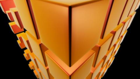 orange dice with alpha Stock Video Footage