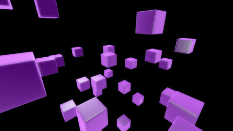 purple box with alpha Stock Video Footage