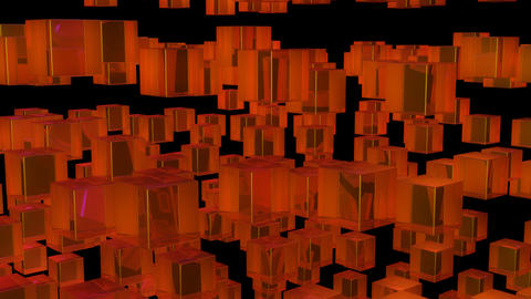 orange array with alpha Stock Video Footage
