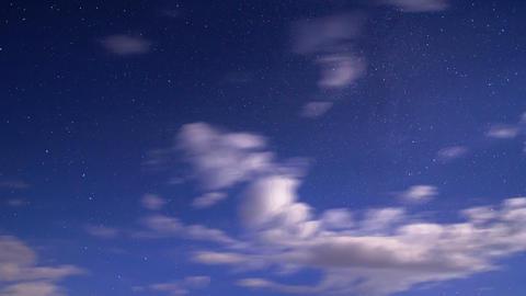Night sky. Time Lapse. 4K Stock Video Footage