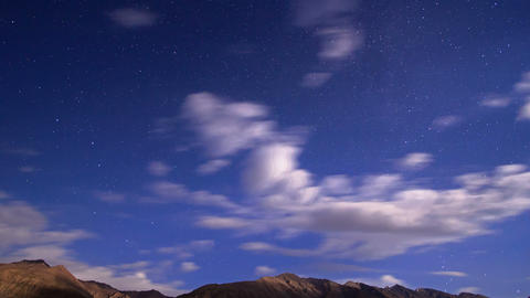Night in the mountains. Time Lapse. 4K Footage