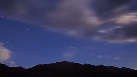Night in the mountains. Time Lapse Stock Video Footage