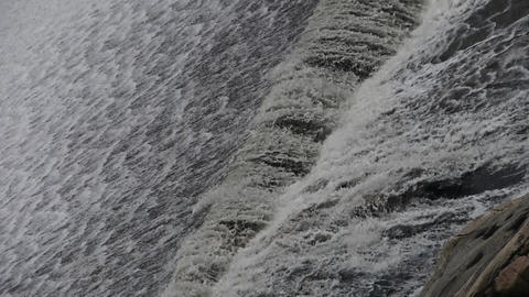 Torrential waterfall & spindrift running Animation