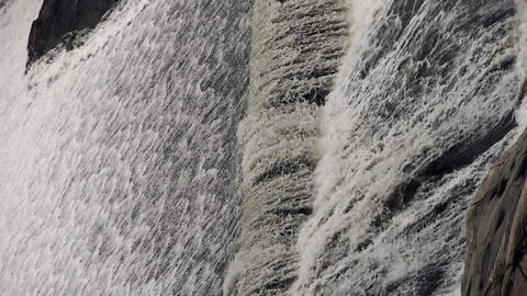 Torrential waterfall & spindrift running Stock Video Footage