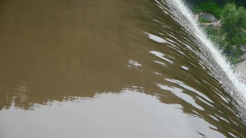top view of waterfall & splash waterdrop Stock Video Footage