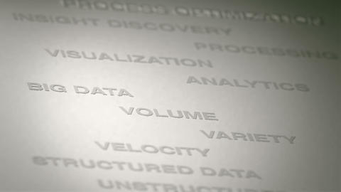 Big Data Concept Animation Stock Video Footage