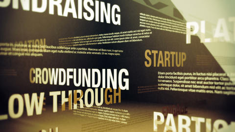 Crowdfunding Related Terms Stock Video Footage